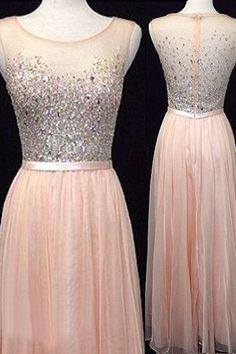 Prom Dresses,Backless Evening Gowns,Light Blush Pink Formal Dress