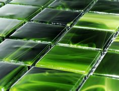 Line Colour C723 High-End Musk Green Murano Glass Italian Mosaic Tile