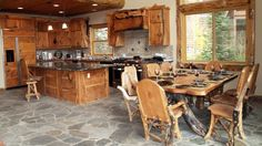 dining table rustic western wood room furniture style set queen