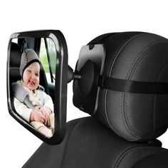 Adjustable Car Back Seat Mirror Baby Facing Rear Ward View Headrest Mount Mirror Square Safety Baby Kids Monitor Car Seat Mirror