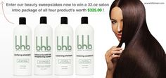 Just Visit http://www.bhbhair.com/sweepstake/ fill up the easy form and regsiter. its simple. Win 32.oz Salon Intro Package Worth $325. Register BHB SWEEPSTAKES NOW!!