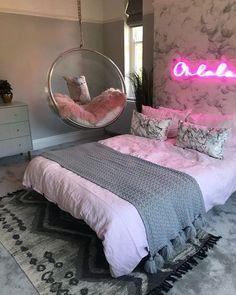 Cute Bedroom Decor, Bedroom Decor For Teen Girls, Cute Bedroom Ideas, Room Design Bedroom, Girl Bedroom Designs, Stylish Bedroom, Room Ideas Bedroom, Girl Bedrooms, Master Bedroom