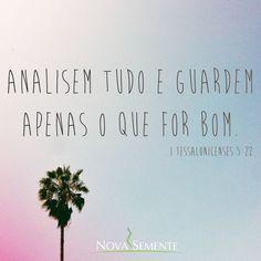 Nova Semente - Frases da Bíblia - Versículos -Deus - I Tessalonicenses 5:22