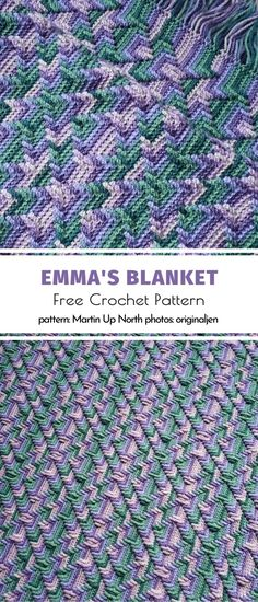 Crochet afghans 394065036148404741 - Emma's Blanket Free Crochet Pattern Source by spiraud Afghan Crochet Patterns, Crochet Stitches, Crochet Hooks, Knitting Patterns, Arm Knitting, Baby Blanket Crochet, Crochet Baby, Free Crochet, Knit Crochet