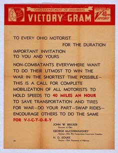 VICTORY GRAM (Ohio Department of Highways) http://www.legion.org/documents/legion/posters/633.jpg