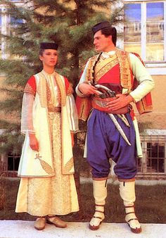 FolkCostume&Embroidery: Costume of Crna Gora, Црна Гора. Montenegro, The Black Mountain