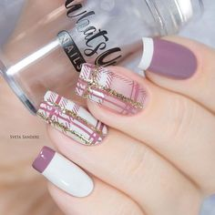 Nail Design Ideas With Glitter Stripes. If you are looking for fresh and stylish summer nail designs you have come to the right place! We have a whole lot of exciting ideas to suit all tastes! #nailart #summernails #naildesigns