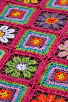ergahandmade: Blanket granny square + Diagram