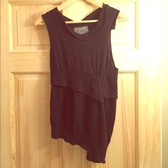All saints asymmetrical knit tank top Lagenlook Rare! Marked size 12 but I think it's a uk size 12 fits more like a small All Saints Tops Tank Tops