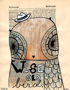 'Wise Old Bird' by Trish Grantham