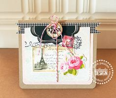 #papercraft #card Lovely card made with the London Market Pink Paislee line, Danielle Flanders