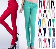 New Womens High Waisted Slim Skinny Jeans Stretchy Side Striped Pants Size 6-14