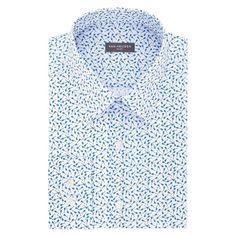 Men's Van Heusen Slim-Fit Flex Collar Stretch Dress Shirt, Size: 17.5-32/33, Blue Other