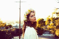 flower crowns - Analeigh Tipton Sports Bohemian Style for So It Goes #1 | Fashion Gone Rogue: The Latest in Editorials and Campaigns