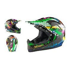 Kali Protectives 2014 Avatar 2 Carbon Mountain Bike Downhill/BMX Helmet (Wild Graffiti - XS) Size X-Small