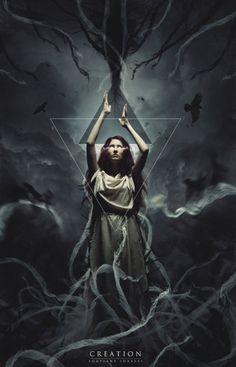 Hot Concept Art by Idrassi Soufiane Dark Fantasy Art, Fantasy World, Dark Art, Fantasy Photography, Gothic Art, Psychedelic Art, Archetypes, Photo Manipulation, Amazing Art