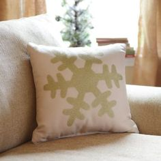 The Gold Glitz Snowflake Accent Pillow is an easy way to update your decor for the holidays! #kirklands #holidaydecor