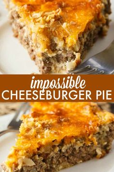 Impossible Cheeseburger Pie - Super easy and delicious! This yummy recipe is full of cheesy beefy flavor that everyone loves. Impossible Cheeseburger Pie - Super easy and delicious! This yummy recipe is full of cheesy beefy flavor that everyone loves. Hamburger Dishes, Hamburger Recipes For Dinner, Dinner Recipes, Casseroles With Ground Beef, Supper Ideas With Hamburger, Hamburger Meat Recipes Ground, Hamburger Meat Recipes Easy, Ground Beef Recipes For Dinner, Ground Beef Casserole