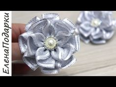Ribbon Art, Fabric Ribbon, Ribbon Bows, Fabric Flowers, Flower Hair Bows, Diy Hair Bows, Quilling Flowers, Beaded Flowers, Baby Hair Bands