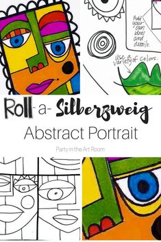 Students roll a number cube to create an abstract portrait in the style of Sandra Silberzweig.. This includes the game sheet, a how-to-draw ideas, and a an instructional sheet with tips for getting the best quality artwork possible from the game. | Party in the Art Room #artforkids