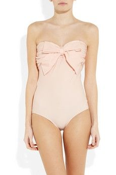 Miu Miu Bow Embellished Swim Suit