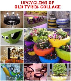 Upcycling of Old Tyres Collage