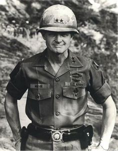 """Task Force Bayonet regrets to inform you that retired Lt. Harold """"Hal"""" Moore, and former Infantry Division Commander, passed away on February 2017 at his home in Auburn, Alabama. Moore commanded the Infantry Division in Korea from May 1970 to March Military Veterans, Military Police, Vietnam Veterans, Vietnam War Photos, Hal Moore, Korean War, American Soldiers, Military History, Us Army"""