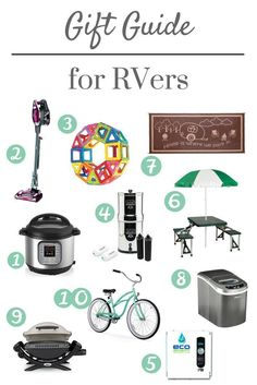 RV Gift Guide - A gift guide for the RV lover or camper.  Perfect gifts for campers and RV ers.