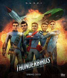 Thunderbirds Are Go - Poster by Jackardy  Fan Art / Digital Art / Other