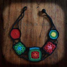 Crochet necklace - idea