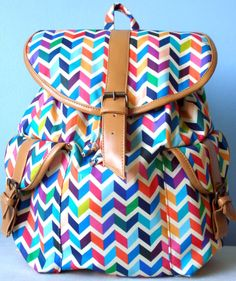 Mochila em tecido de algodão estampado Backpack Purse, Purse Wallet, Tween Backpacks, My Bags, Purses And Bags, Purse Organization, Girls Bags, Tribal Prints, Blue Lace