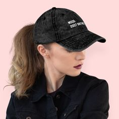 Feeling Unique Breakfast of Champions Vintage Jeans Baseball Cap Classic Cotton Dad Hat Adjustable Plain Cap Black