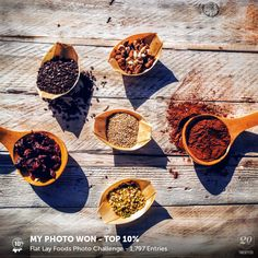 My photo was voted Top 10% in the Flat Lay Foods challenge on Twenty20. See the entries.