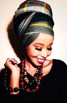 African Head Wrap Beauty