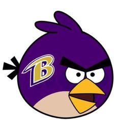 Baltimore Ravens angry bird