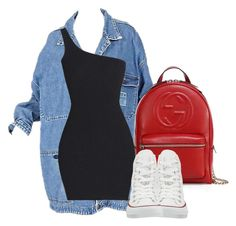 """""""Untitled #24"""" by nelafashion ❤ liked on Polyvore featuring Gucci and Converse"""