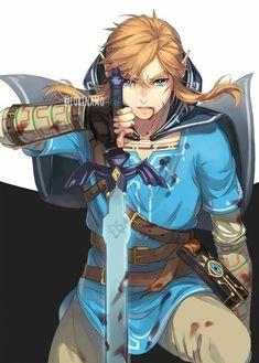 The Legend Of Zelda, Legend Of Zelda Memes, Legend Of Zelda Breath, Link Zelda, Breath Of The Wild, Video Game Characters, Fantasy Characters, Anime Manga, Anime Guys