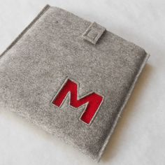 Custom Monogram Kindle Case  Merino Wool Felt by MaricFineGoods, $45.00