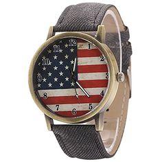 Sanwood Unisex Bronze Denim Band Armbanduhr Watch - http://on-line-kaufen.de/sanwood/sanwood-unisex-bronze-denim-band-armbanduhr