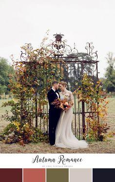 Autumn Romance Fall Wedding Color Palette || Wedding Colours || Fall Wedding…