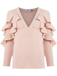 Patbo blouse with frills - festa crianças Kurti Sleeves Design, Sleeves Designs For Dresses, Fashion Wear, Hijab Fashion, Fashion Dresses, Stylish Dress Designs, Stylish Dresses, Kurta Designs, Blouse Designs