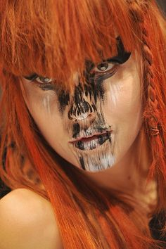 wild, crazy make-up | Halloween Makeup Ideas and Crazy Runway Beauty Looks