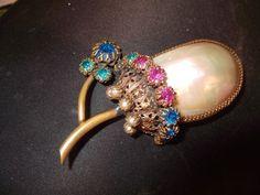 Extremely RARE Signed CIS Countess Cissy Zoltowska Flower Brooch | eBay