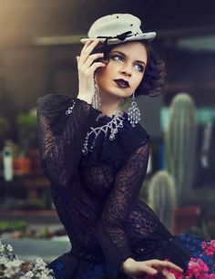 """Bella Morte"" Photographer: Claudio D'Avolio Stylist: Diamond Luisant Makeup: Aurora Pirrotta Model: Lisa Varolo Location: Botanic Italia, Milano"