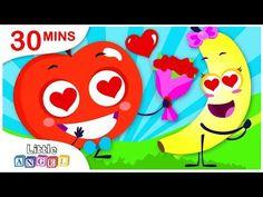 #valentinesdaykidssongs - YouTube Princess Songs, Valentines Day Songs, Kids Songs, Singing, Bananas, Apples, Angel, Youtube, Nursery Songs