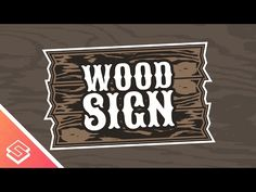 Inkscape Tutorial: Vector Wood Sign Logo - YouTube