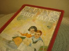 Antique Grimms Fairy Tales 1924 edition by Orton Lowe, Grimms Fairy Tales Childrens Book 1920s