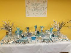 Winter themed candy buffet (it's a boy)