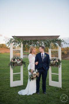 Ceremony Inspiration, Wallflower Designs, Barn Wedding