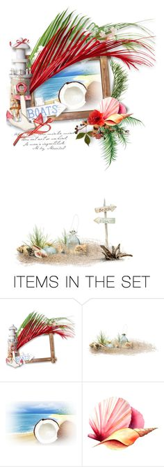 """""""Cherish...........................xx"""" by mariloo ❤ liked on Polyvore featuring art, coral, artwork, artgallery, mariloo and summer2016"""